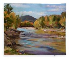 The Pemi In Autumn One Fleece Blanket
