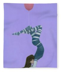 The Pink Balloon II Fleece Blanket