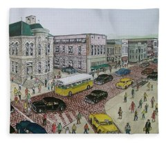The Portsmouth Ohio Post Office On The Esplanade 1948 Fleece Blanket