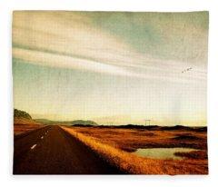 The Road Ahead Fleece Blanket