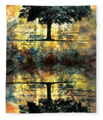 The Small Dreams Of Trees Fleece Blanket