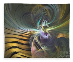 The Vortex - Abstract Art Fleece Blanket