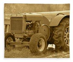 This Old Tractor Fleece Blanket