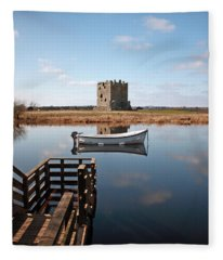 Threave Castle Reflection Fleece Blanket
