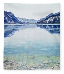 Thunersee Von Leissigen Fleece Blanket
