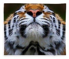 Tiger 1  Fleece Blanket