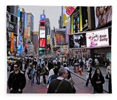 Times Square New York Fleece Blanket