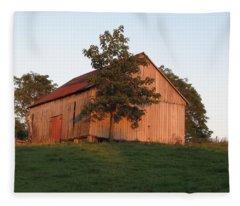 Tobacco Barn II In Color Fleece Blanket