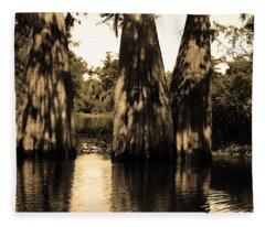 Trees In The Basin Fleece Blanket
