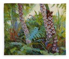 Tropical Underwood Fleece Blanket