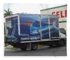 Truck Wraps Fleece Blanket
