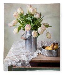 Tulips And Pears Fleece Blanket