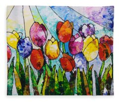 Tulips On Parade Fleece Blanket