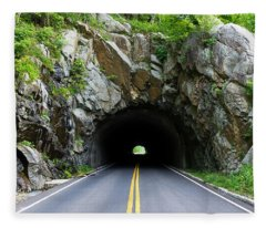 Tunnel On A Lonely Road Fleece Blanket