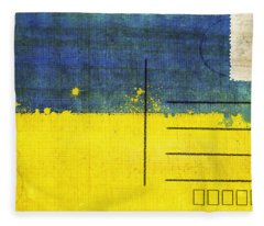 Ukraine Flag Postcard Fleece Blanket