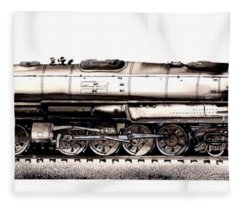 Union Pacific 4-8-8-4 Steam Engine Big Boy 4005 Fleece Blanket