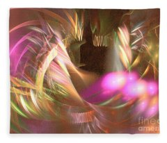 Untamed - Abstract Art Fleece Blanket