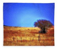 Valley San Carlos Arizona Fleece Blanket