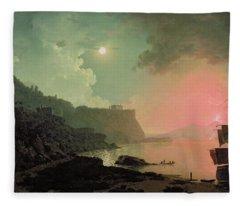 Vesuvius From Posillipo Fleece Blanket