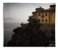 Vesuvius From Sorrento Fleece Blanket