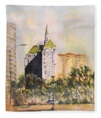 Villa Riviera  Fleece Blanket