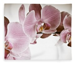 Vintage Orchid Fleece Blanket