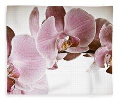 Vintage Orchid Fleece Blanket