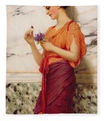 Violets Fleece Blanket