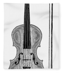 Violin And Bow Fleece Blanket