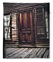 Virginia City Ghost Town Door I Fleece Blanket