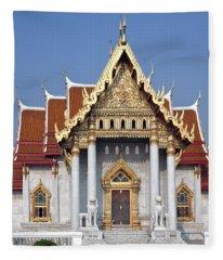Wat Benchamabophit Ubosot Dthb180 Fleece Blanket