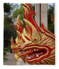 Wat Chalong 3 Fleece Blanket