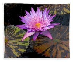 Water Lily Magic Fleece Blanket