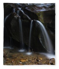 Waterfall On Emory Gap Branch Fleece Blanket