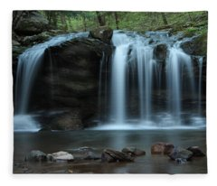 Waterfall On Flat Fork Fleece Blanket