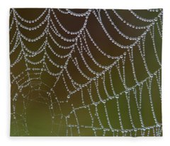Web With Dew Fleece Blanket