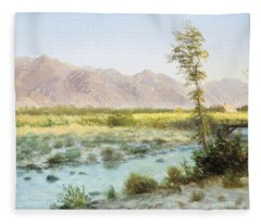 Western Landscape Fleece Blanket
