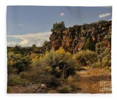 Westward Across The Mesa Fleece Blanket