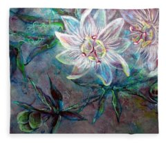 White Passion Fleece Blanket