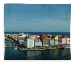 Willemstad Curacao Fleece Blanket