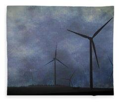 Windmills. Fleece Blanket