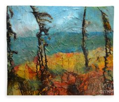 Windswept Pines Fleece Blanket