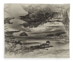 Windy Cove Bw Fleece Blanket