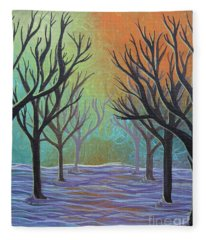 Winter Solitude 11 Fleece Blanket