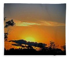 Wisconsin Sunset Fleece Blanket