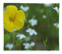 Wood Sorrel And Sandwort Fleece Blanket
