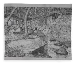 Woodland Stream Fleece Blanket