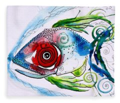 Wtfish 001 Fleece Blanket