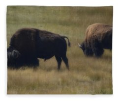 Wyoming Buffalo Fleece Blanket