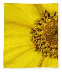 Yellow Flower Detail Fleece Blanket